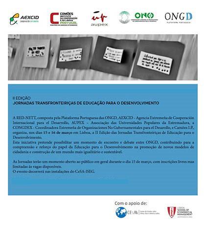 II Jornadas Transfronteiriças de Educação para o Desenvolvimento