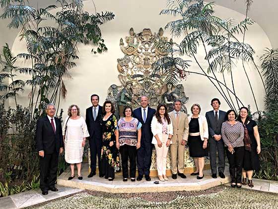 Brasil: Encontro do Presidente do Camões, I.P. com responsáveis de cátedras apoiadas pelo Camões, I.P.