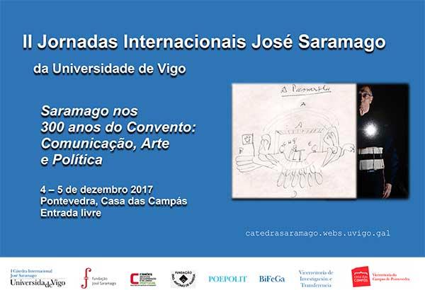 Espanha: II Jornadas Internacionais José Saramago da Universidade de Vigo