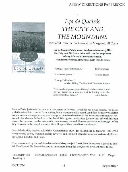 A Cidade e as Serras em inglês